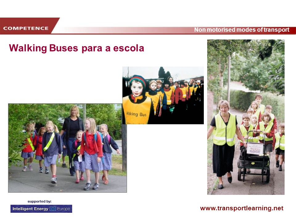 Walking Buses para a escola