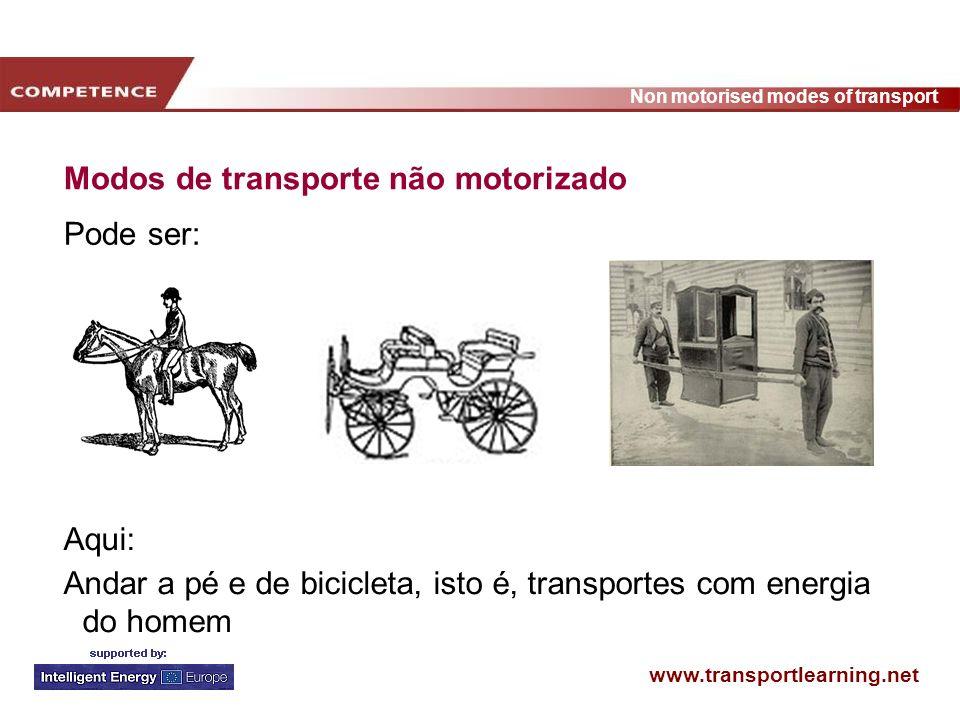 Modos de transporte não motorizado