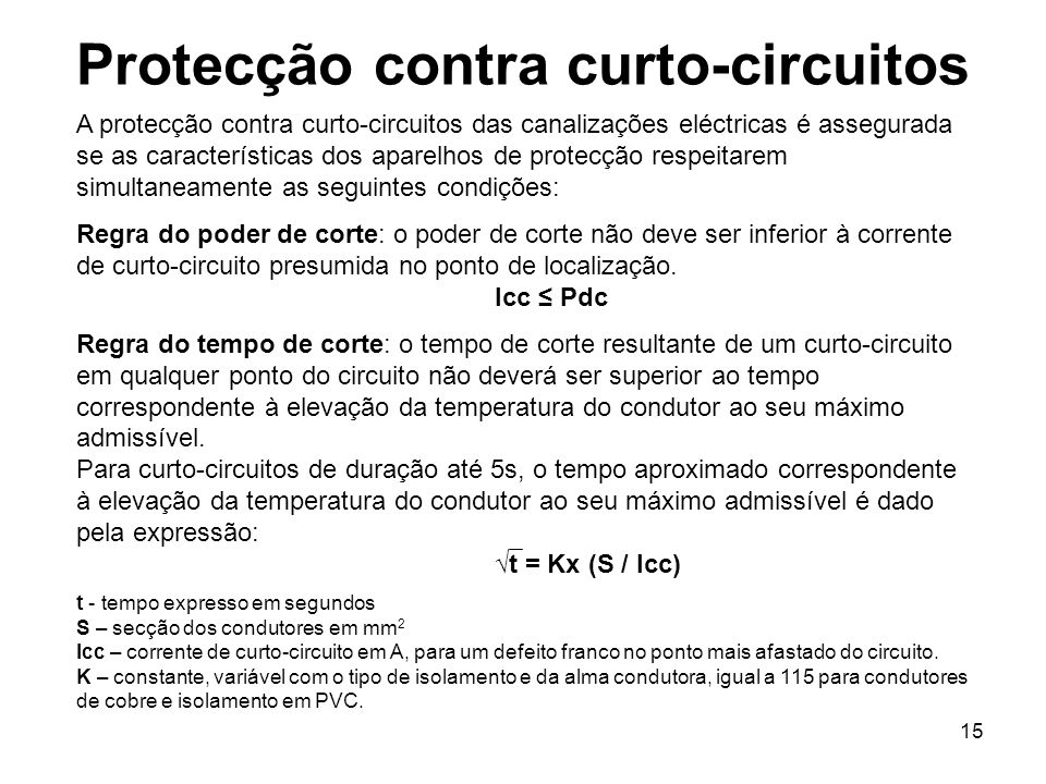 Protecção contra curto-circuitos