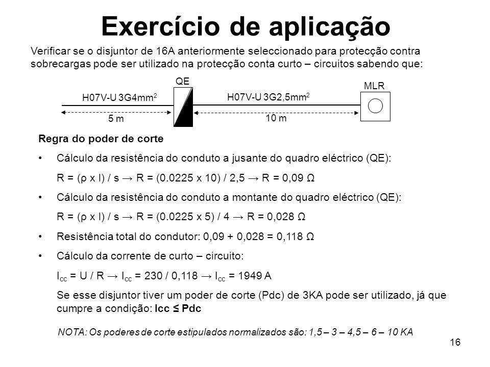 Exercício de aplicação