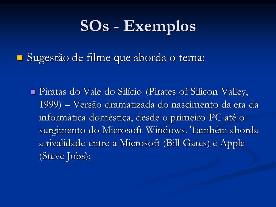 SOs - Exemplos Sugestão de filme que aborda o tema: