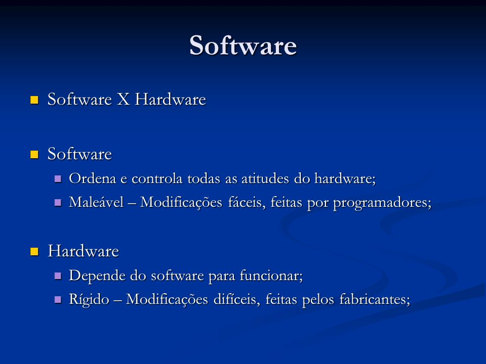 Software Software X Hardware Software Hardware
