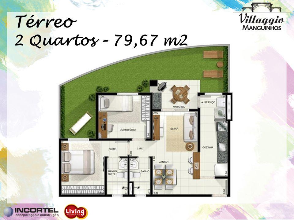 Térreo 2 Quartos – 79,67 m2