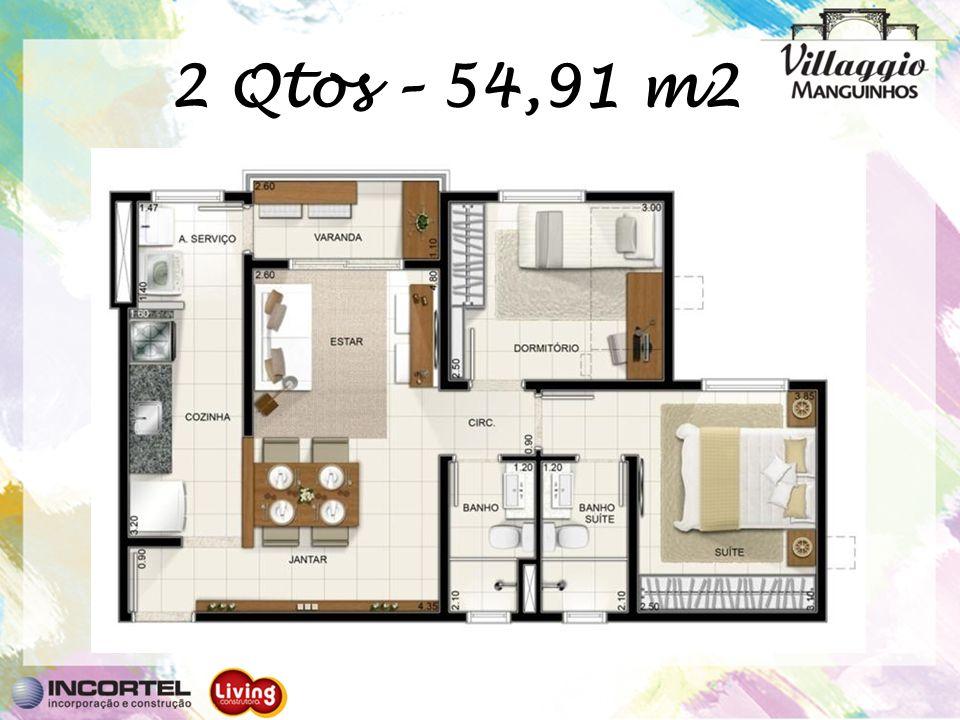 2 Qtos – 54,91 m2