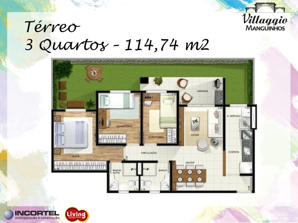 Térreo 3 Quartos – 114,74 m2