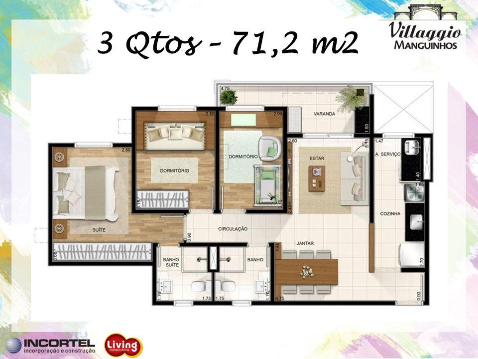 3 Qtos – 71,2 m2