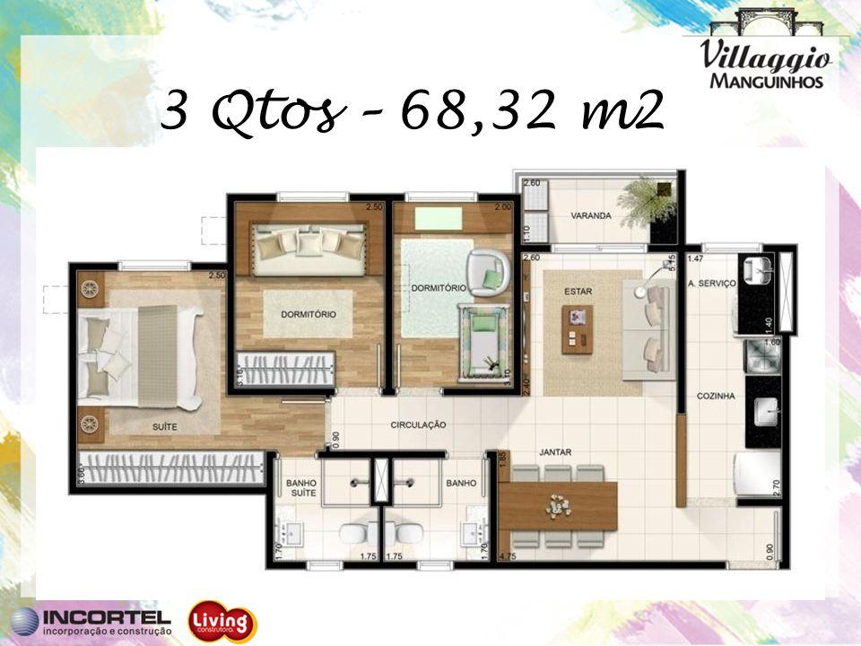 3 Qtos – 68,32 m2