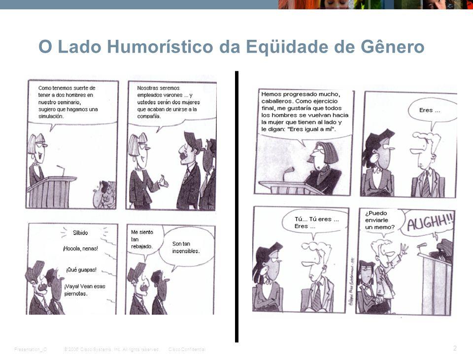 O Lado Humorístico da Eqüidade de Gênero