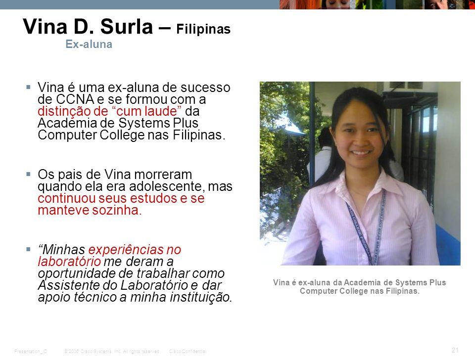 Vina D. Surla – Filipinas Ex-aluna