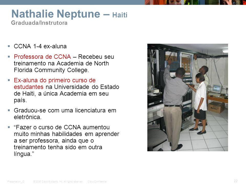 Nathalie Neptune – Haiti Graduada/Instrutora