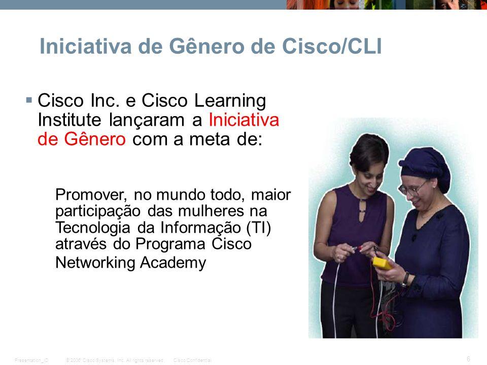 Iniciativa de Gênero de Cisco/CLI