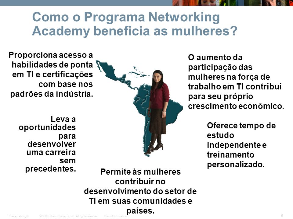 Como o Programa Networking Academy beneficia as mulheres