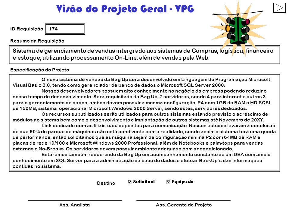 Visão do Projeto Geral - VPG