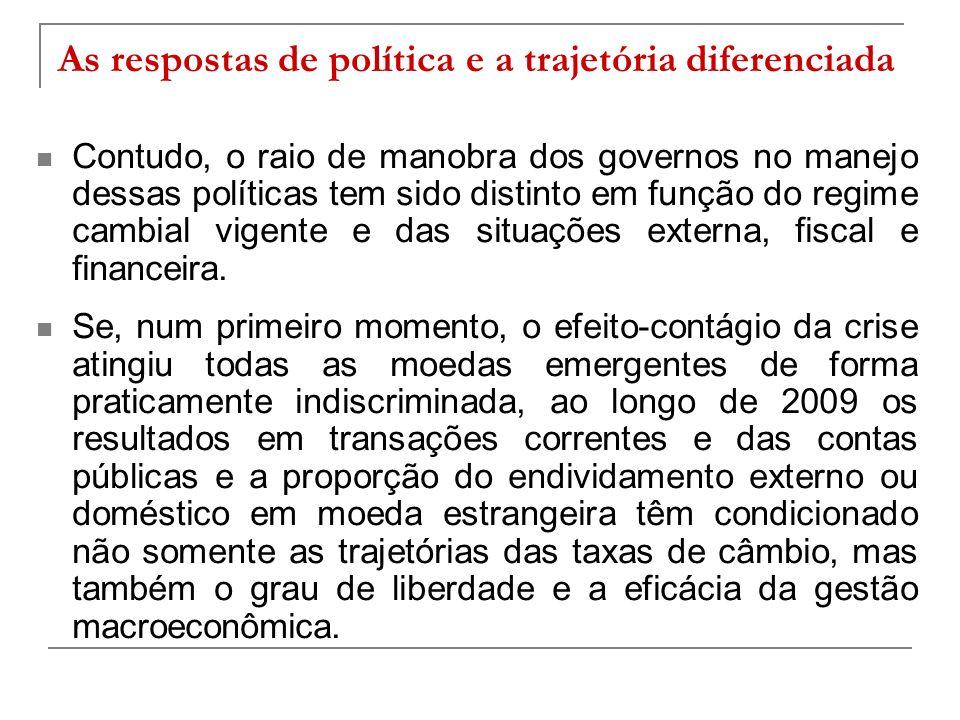 As respostas de política e a trajetória diferenciada