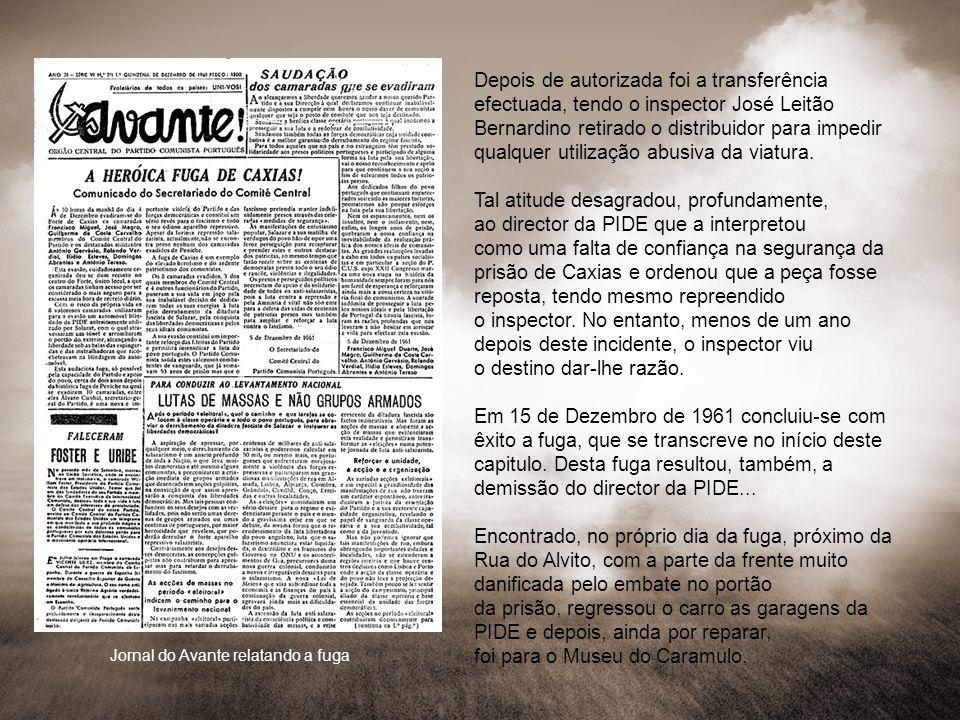 Jornal do Avante relatando a fuga
