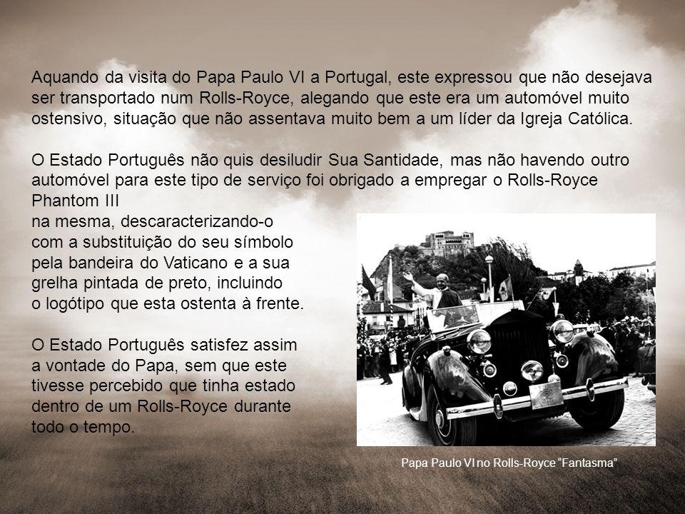 Papa Paulo VI no Rolls-Royce Fantasma