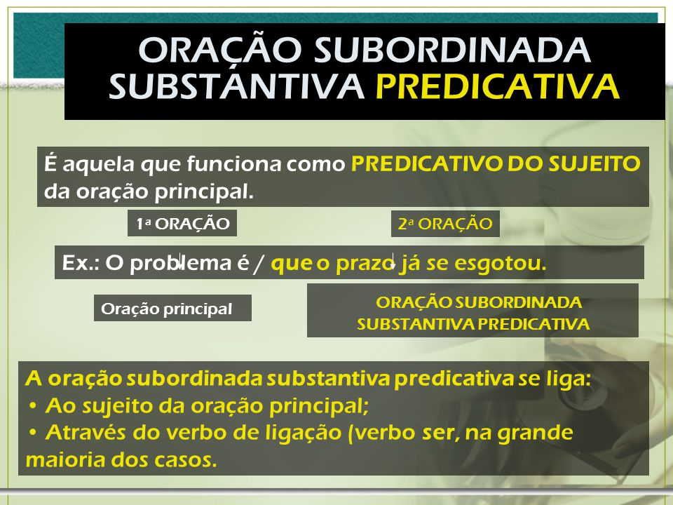 SUBSTANTIVA PREDICATIVA