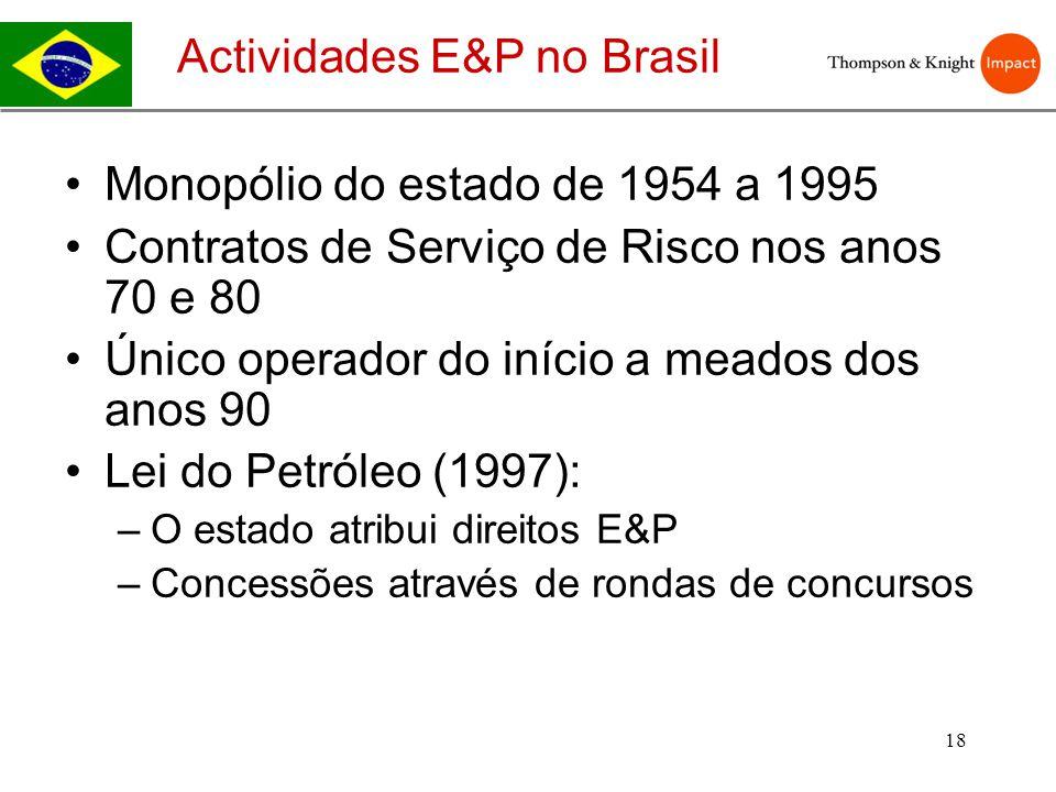 Actividades E&P no Brasil