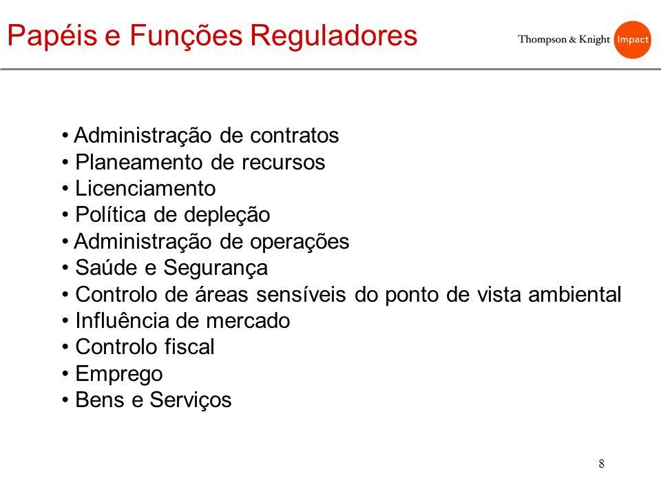Papéis e Funções Reguladores