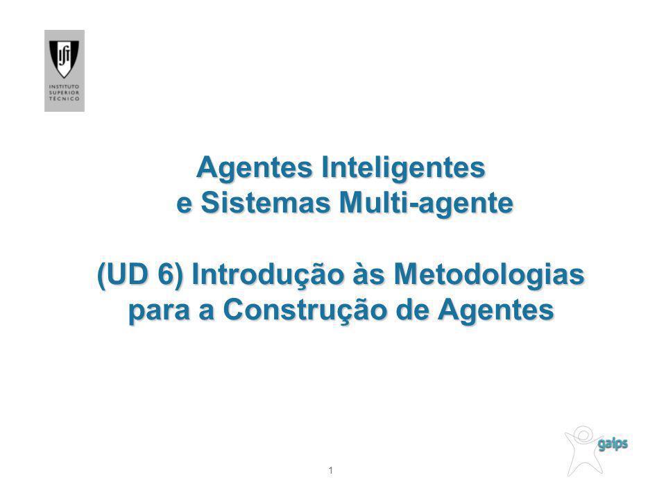Agentes Inteligentes e Sistemas Multi-agente (UD 6) Introdução às Metodologias para a Construção de Agentes