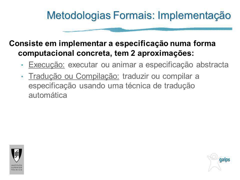 Metodologias Formais: Implementação