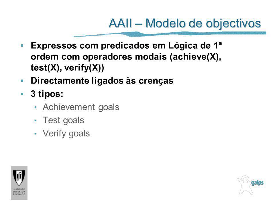 AAII – Modelo de objectivos