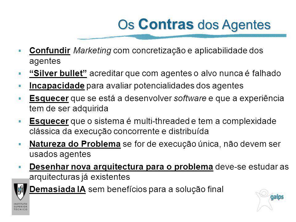 Os Contras dos Agentes Confundir Marketing com concretização e aplicabilidade dos agentes.