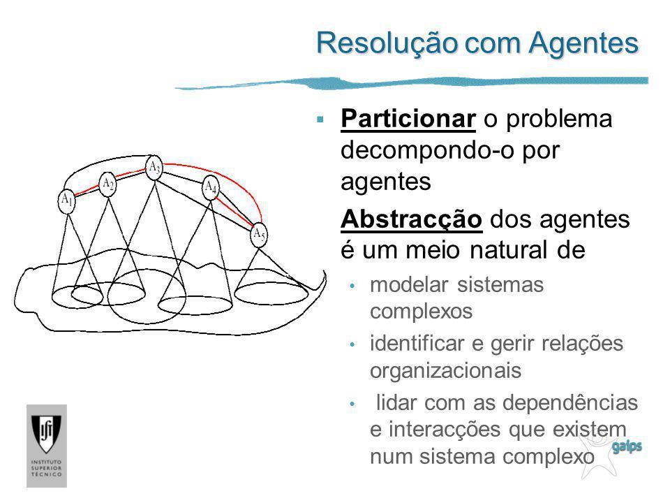 Resolução com Agentes Particionar o problema decompondo-o por agentes
