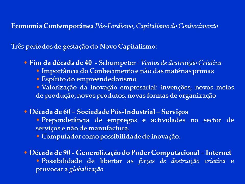Economia Contemporânea Pós-Fordismo, Capitalismo do Conhecimento