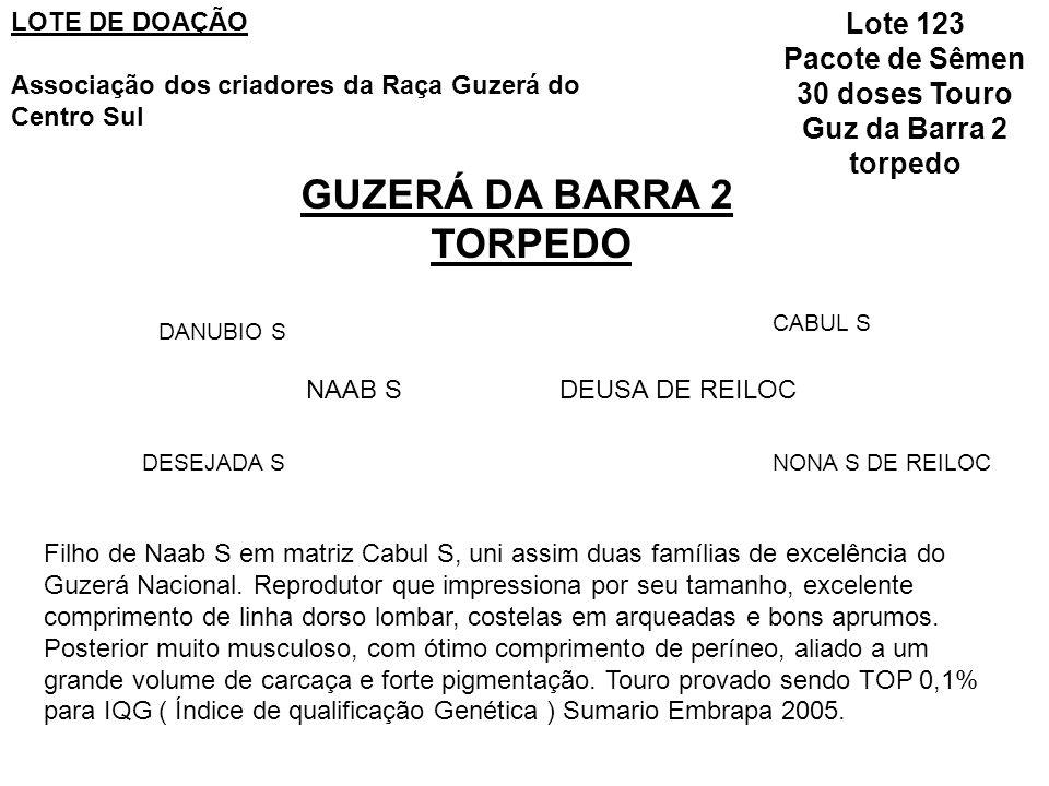 30 doses Touro Guz da Barra 2 torpedo