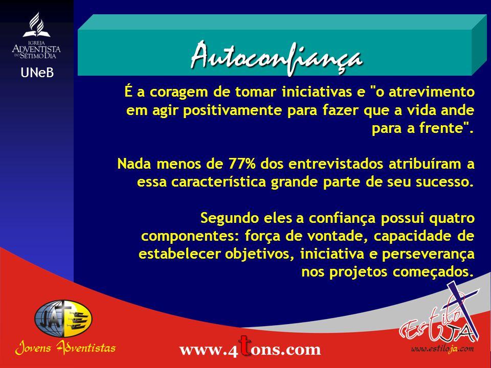 Autoconfiança Estiloja.com www.4tons.com