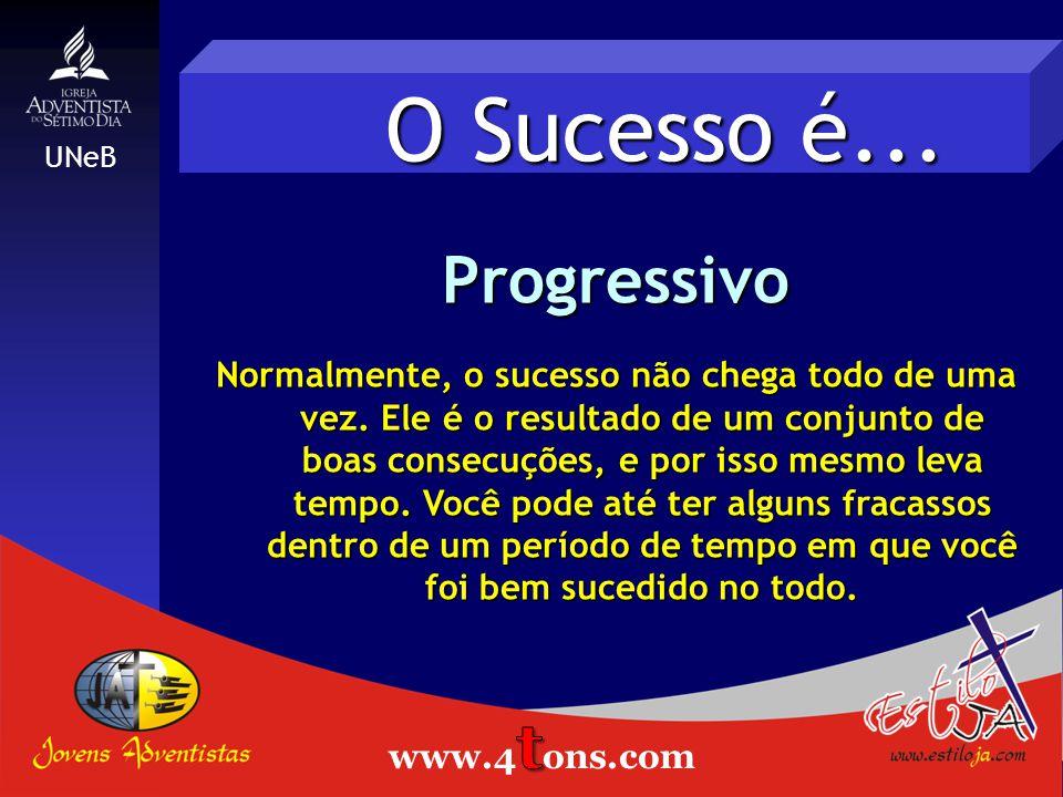 O Sucesso é... Progressivo Estiloja.com
