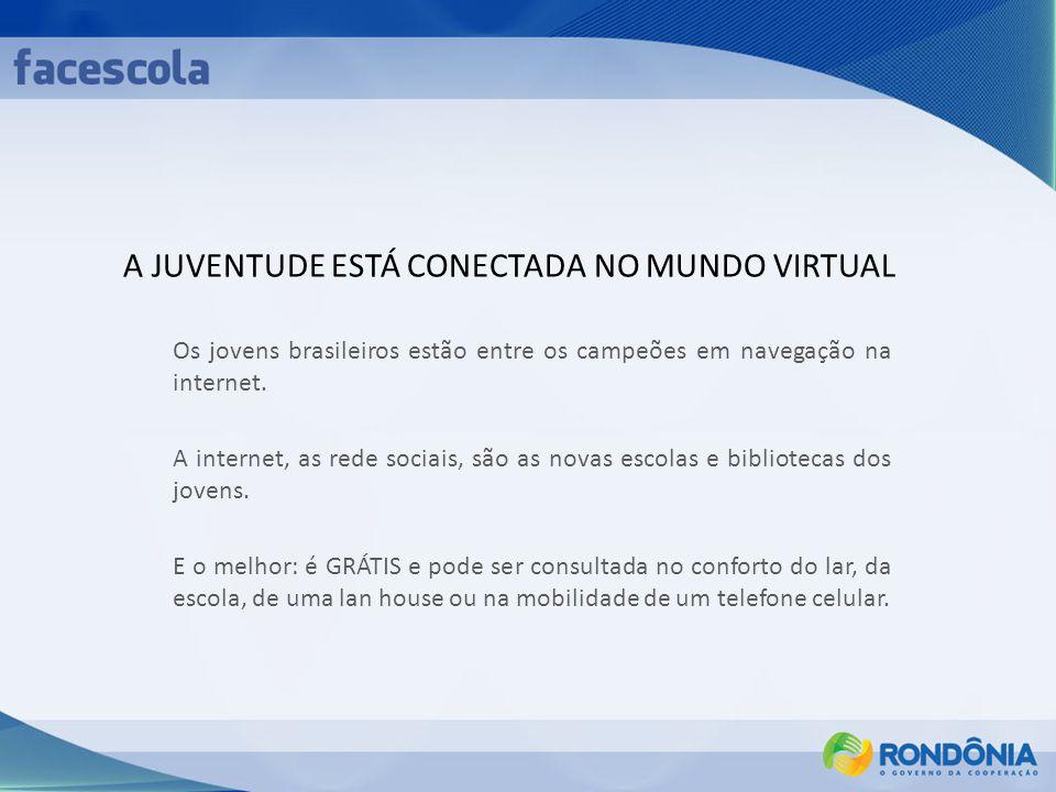 A JUVENTUDE ESTÁ CONECTADA NO MUNDO VIRTUAL