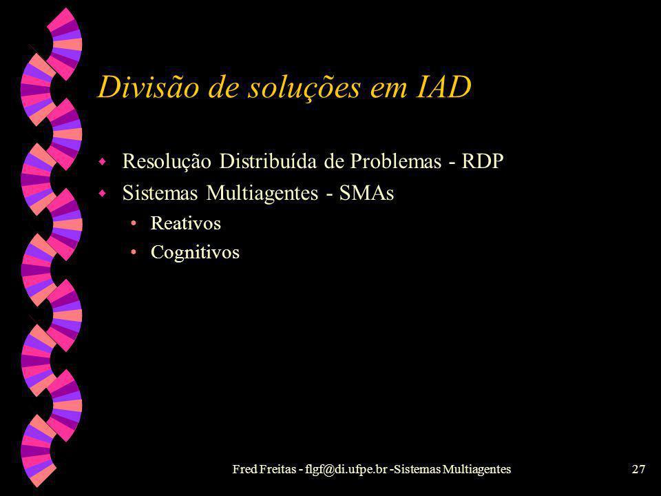 Divisão de soluções em IAD