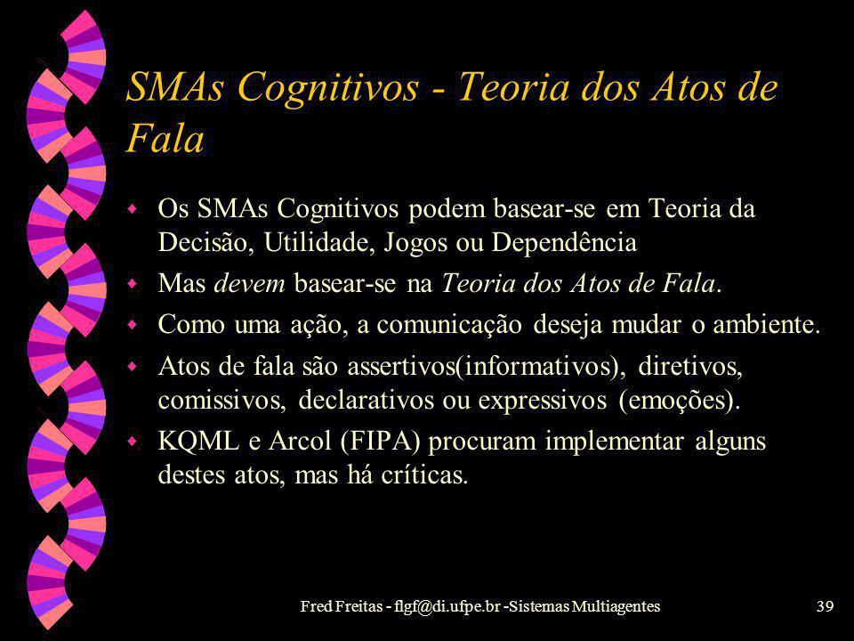SMAs Cognitivos - Teoria dos Atos de Fala