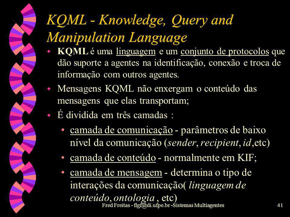 KQML - Knowledge, Query and Manipulation Language