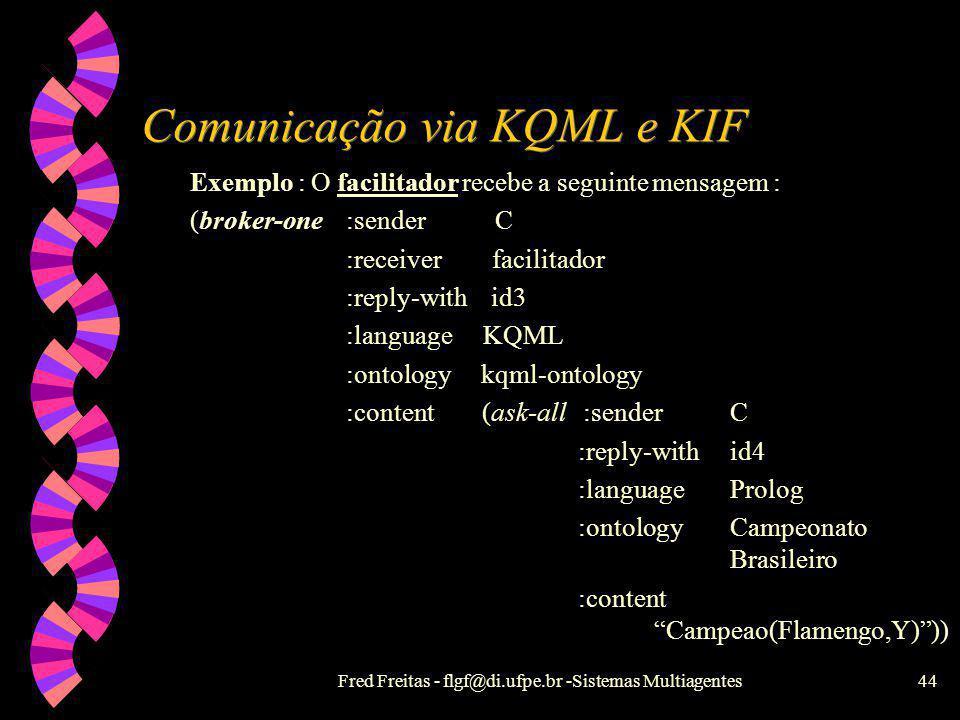 Comunicação via KQML e KIF