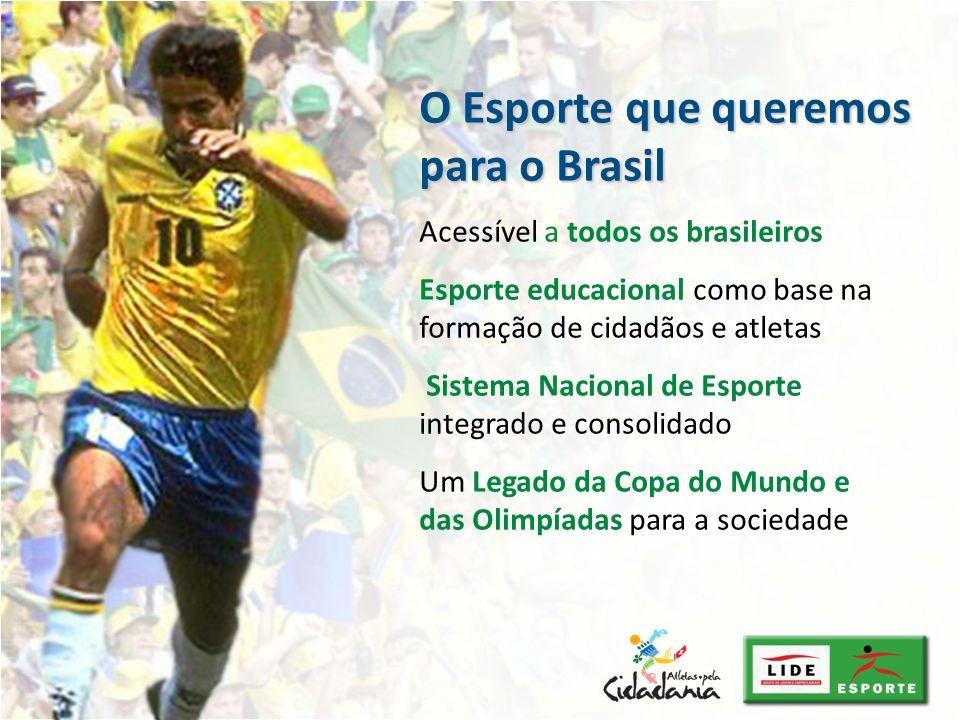 O Esporte que queremos para o Brasil