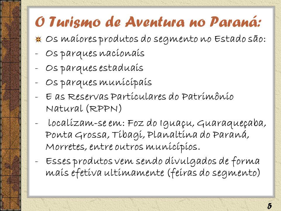 O Turismo de Aventura no Paraná: