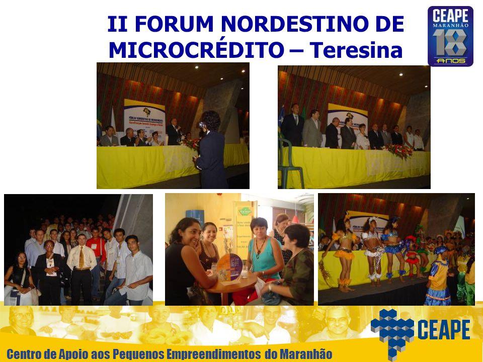 II FORUM NORDESTINO DE MICROCRÉDITO – Teresina