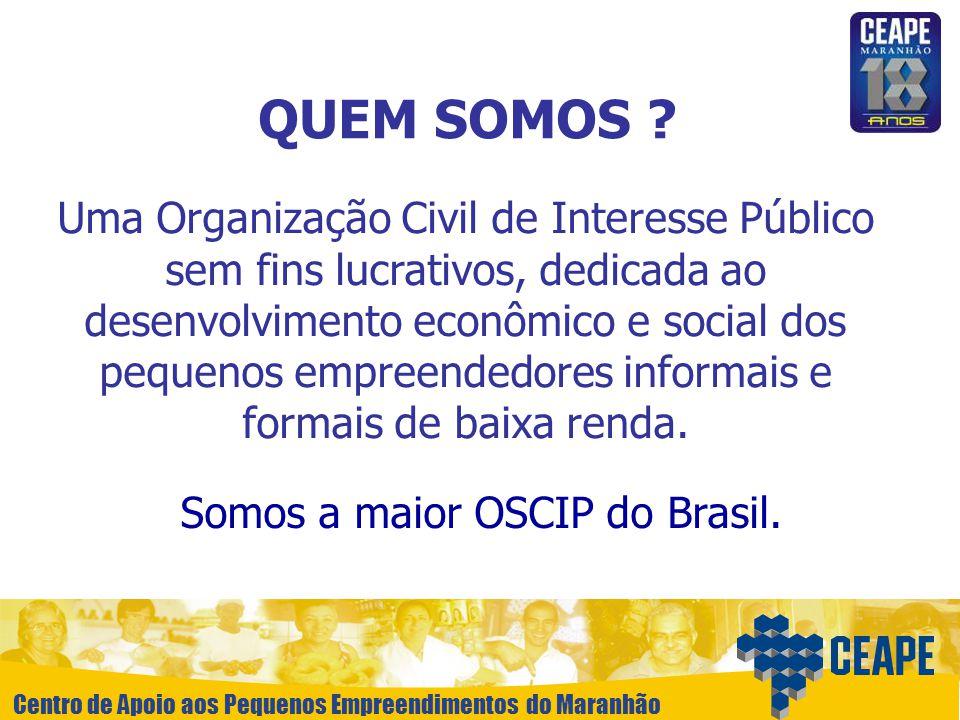 Somos a maior OSCIP do Brasil.