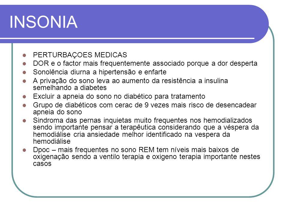 INSONIA PERTURBAÇOES MEDICAS