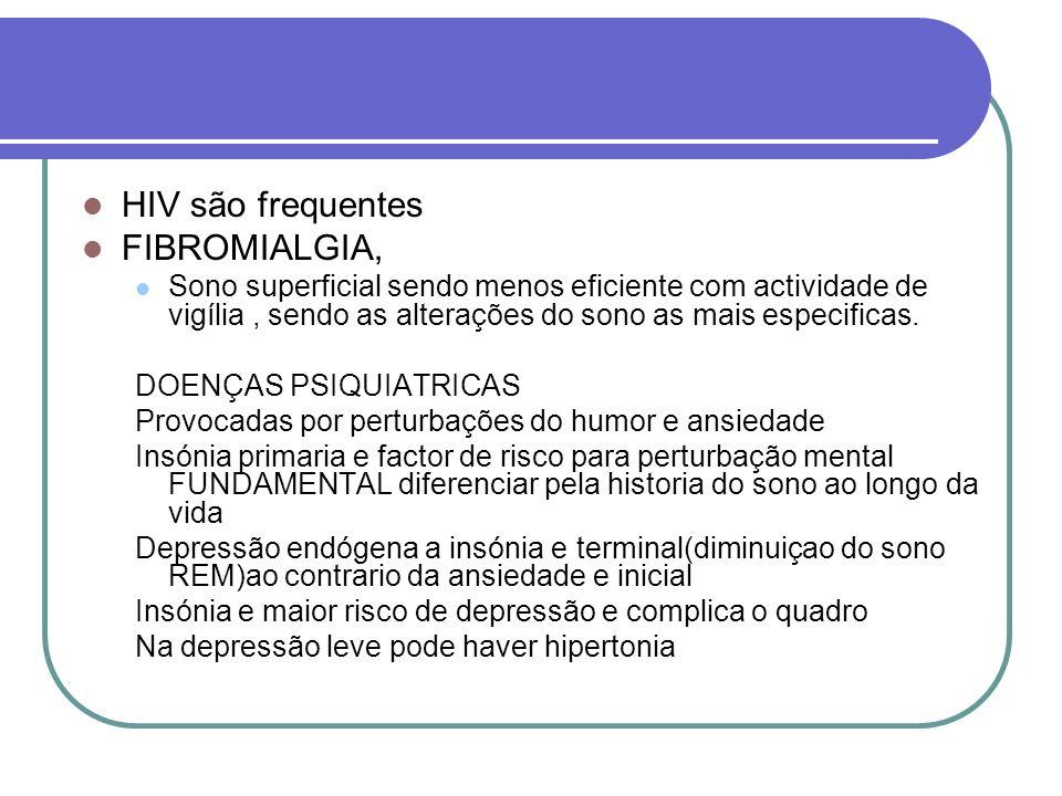 HIV são frequentes FIBROMIALGIA,