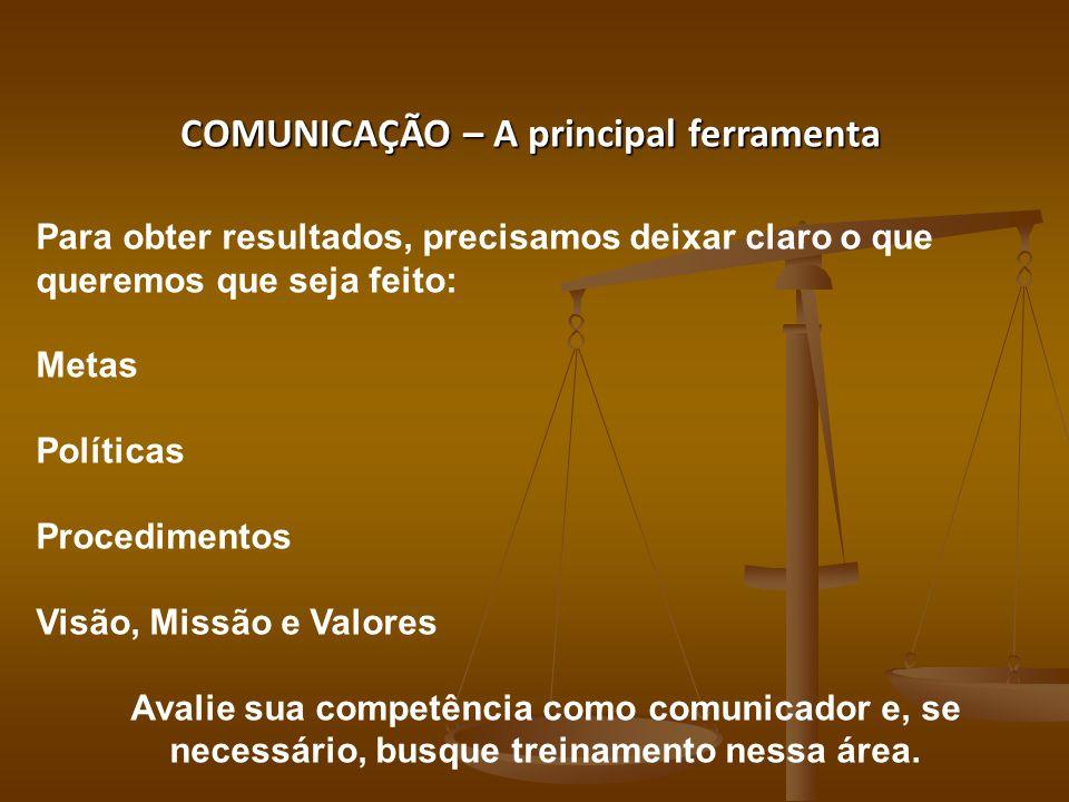 COMUNICAÇÃO – A principal ferramenta