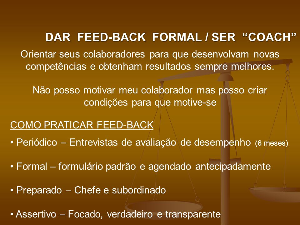 DAR FEED-BACK FORMAL / SER COACH
