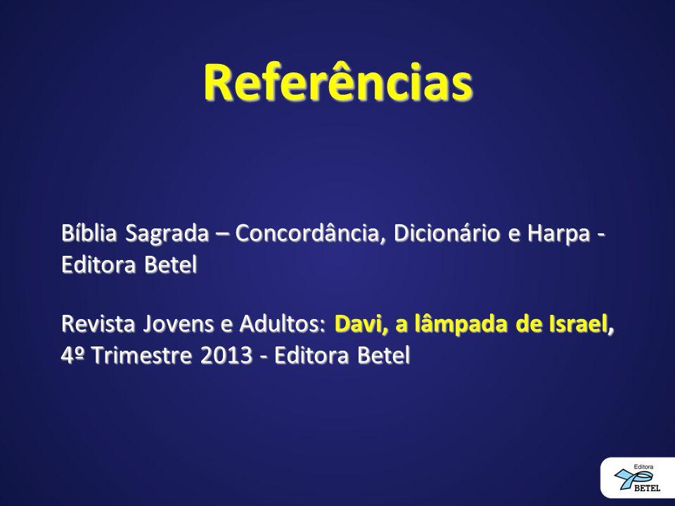 Referências Bíblia Sagrada – Concordância, Dicionário e Harpa - Editora Betel.