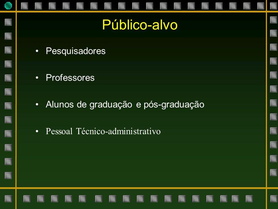 Público-alvo Pesquisadores Professores
