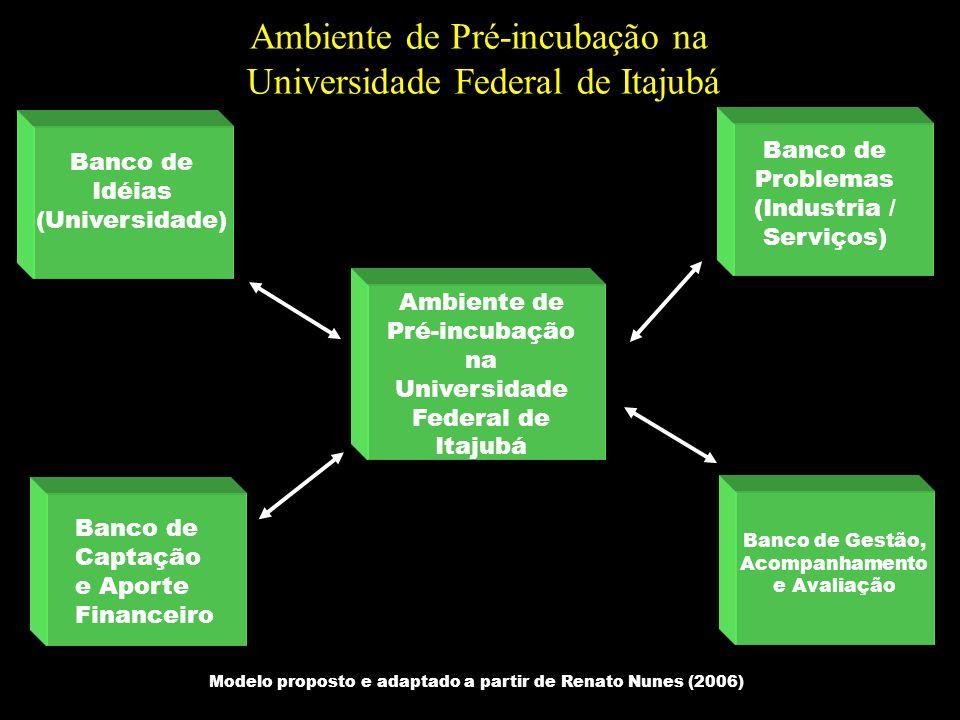 Ambiente de Pré-incubação na Universidade Federal de Itajubá