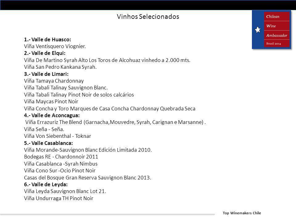 Vinhos Selecionados 1.- Valle de Huasco: Viña Ventisquero Viognier.