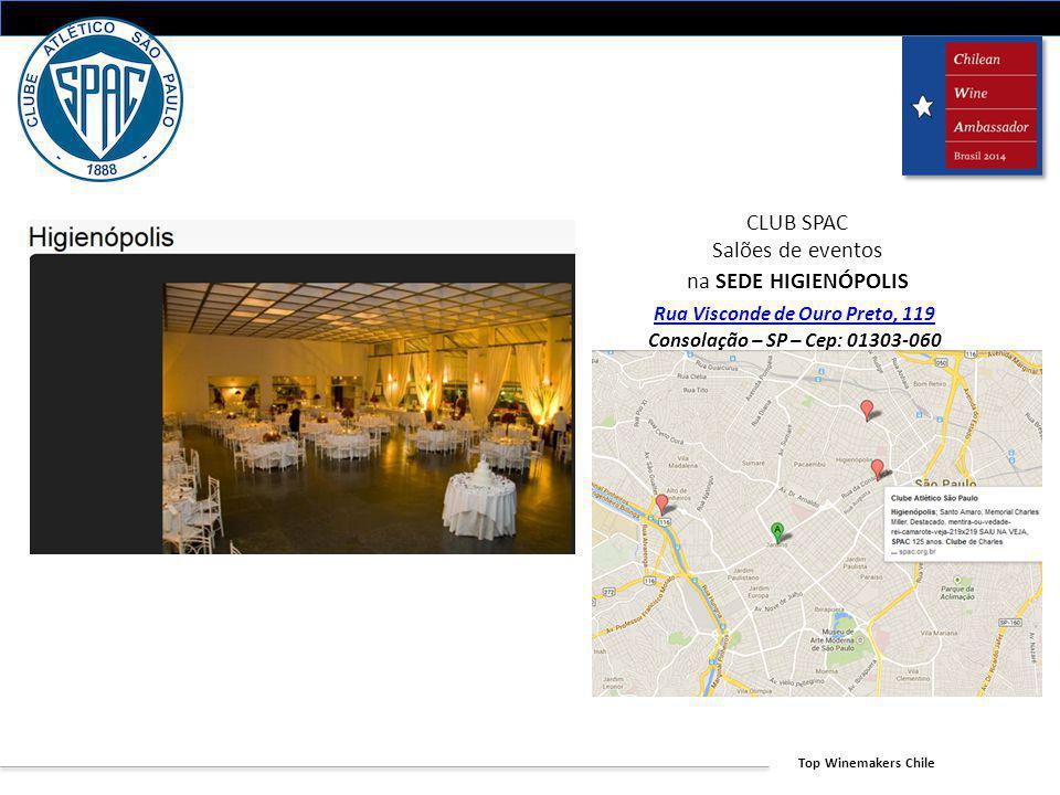 CLUB SPAC Salões de eventos na SEDE HIGIENÓPOLIS Rua Visconde de Ouro Preto, 119 Consolação – SP – Cep: 01303-060 Fone/Fax: (11) 3217-5944